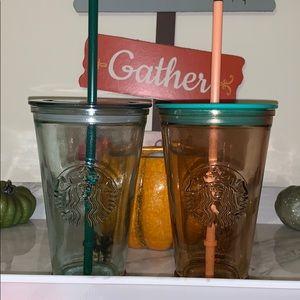 Starbucks grande glass tumblers